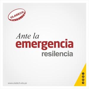 Flyer Ante la Emergencia Resilencia