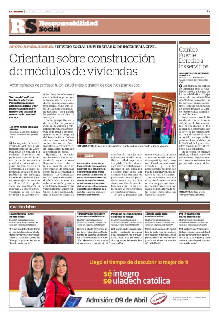 Publicación Semanal - Marzo 2017
