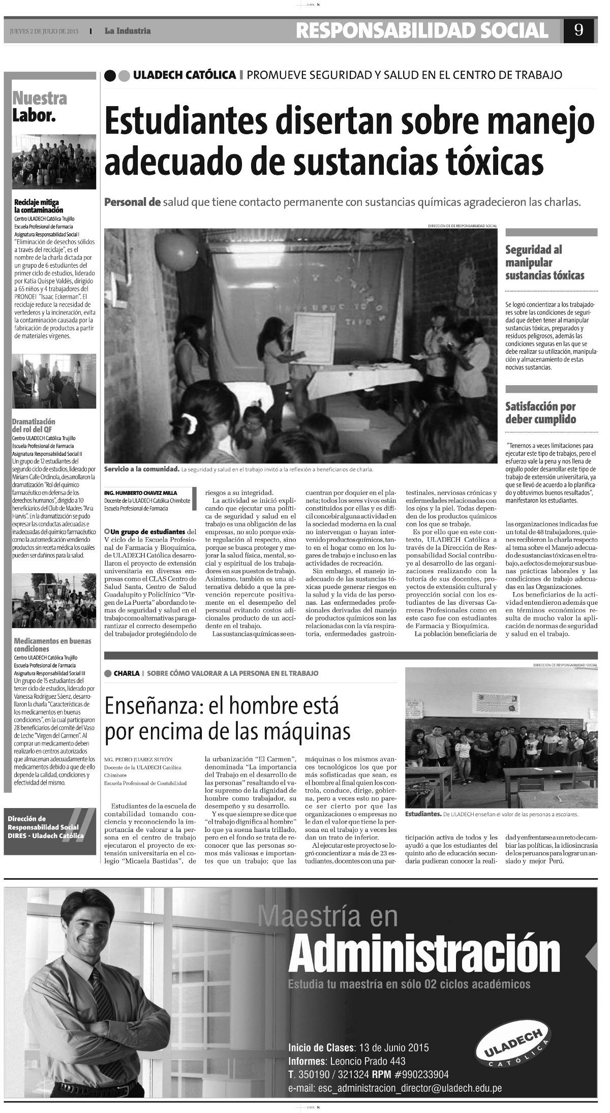 02-07-2015_La Industria_Farmacia - Conta_Chimbote ok