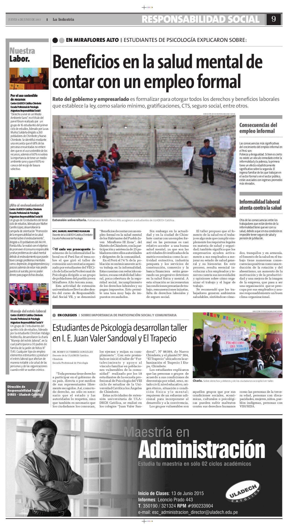 04-06-2015_La Industria_Psicologia-Chim
