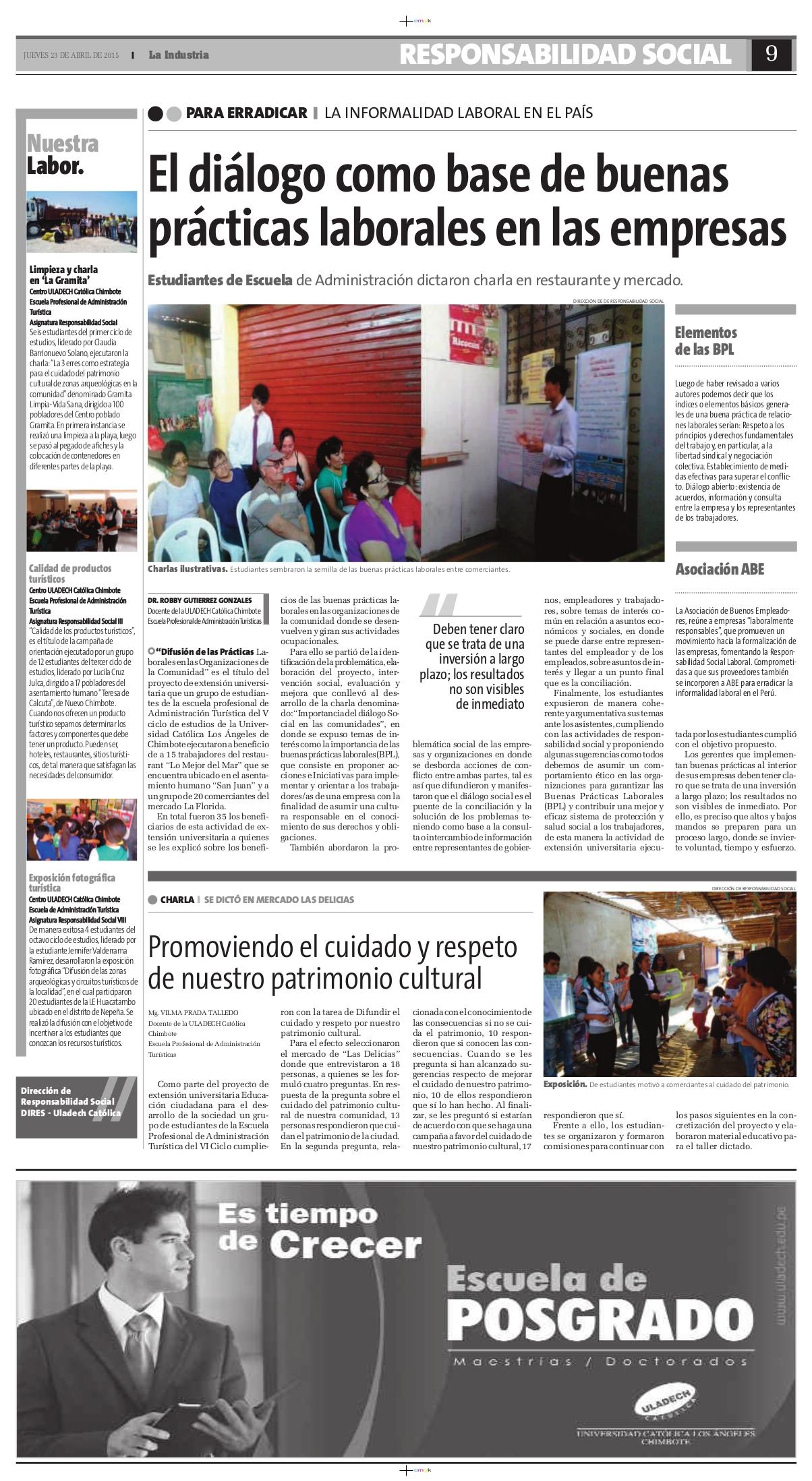 23-04-2015_La Industria_Turismo_Chim