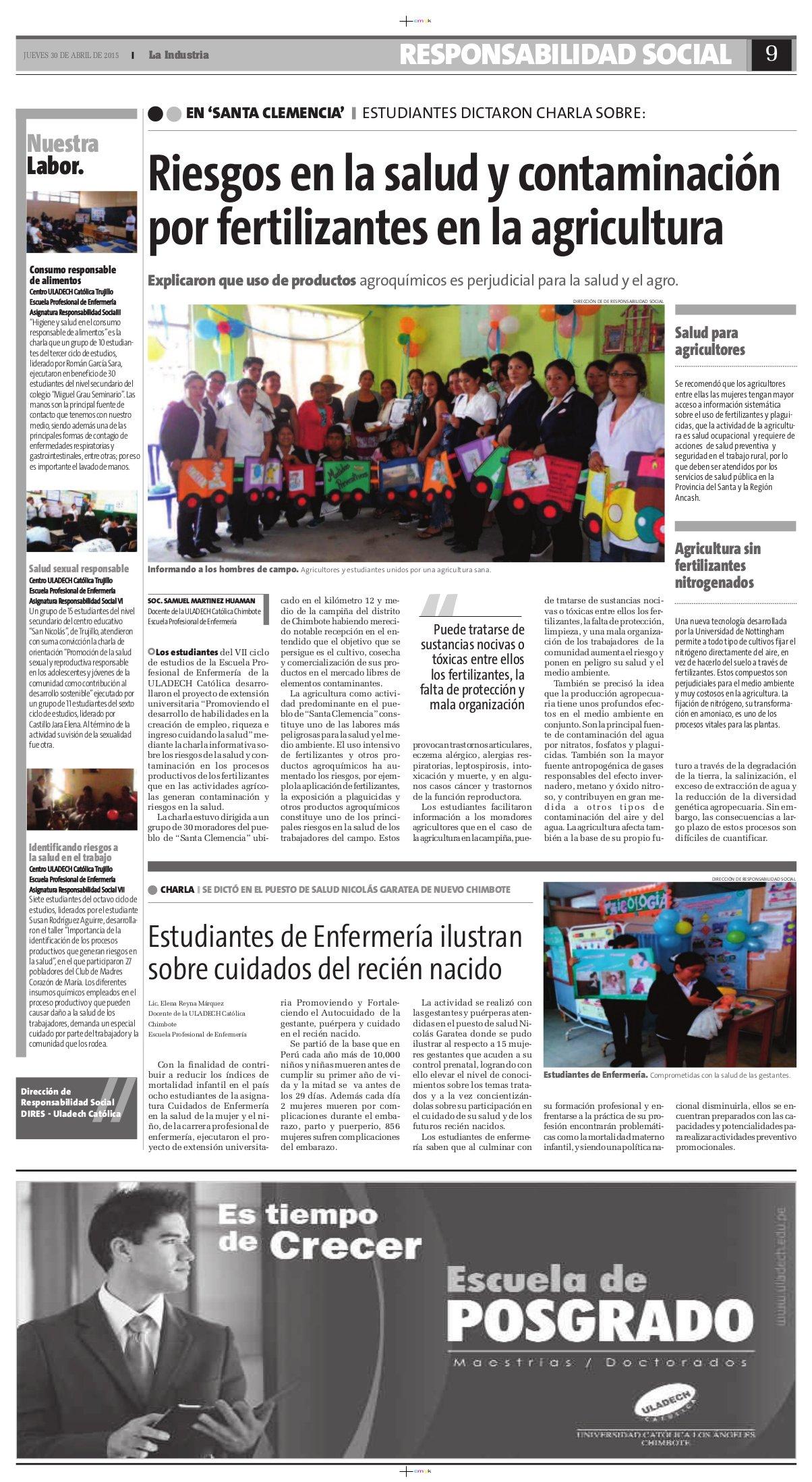 30-04-2015_La Industria_Enfermeria_Chim