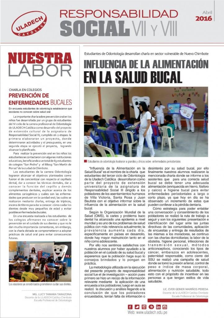 Publicación Semanal - Marzo 2016