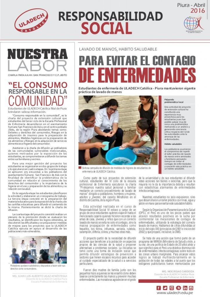 Publicación Semanal - Abril 2016