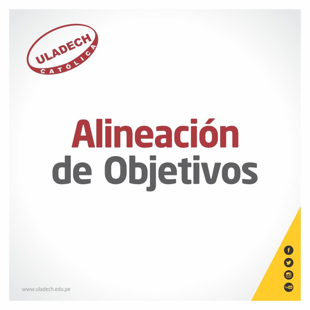 ALINEACIÓN DE OBJETIVOS