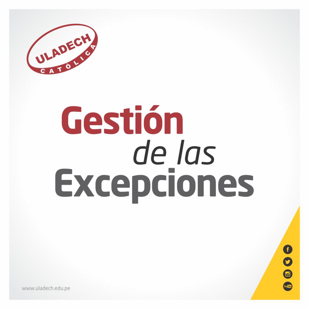 GESTIÓN DE LAS EXCEPCIONES