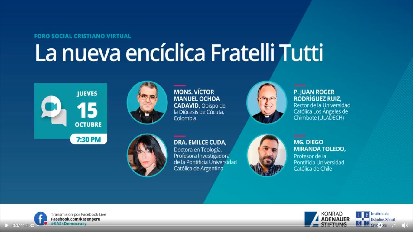 La nueva encíclica Fratelli Tutti